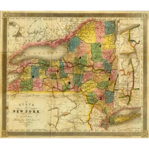 Staat New York Kaart Kaart Van de Staat New York