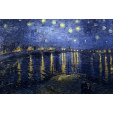 Sterrennacht over de Rhone - Van Gogh -1888