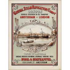 General Steam Navigation Co. poster - Amsterdam-London - 1878-9