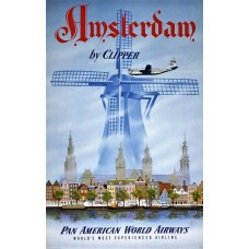 PanAm Clipper Amsterdam poster
