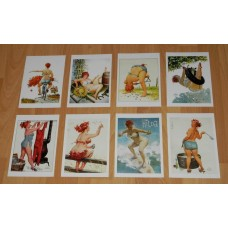 8 Hilda pin-up kaarten - set B