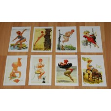 8 Hilda pin-up kaarten - set C