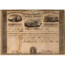 Aandeel Camden & Amboy Railroad - 1834