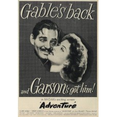 Adventure film advertentie met Clark Gable - 1946 - overdruk