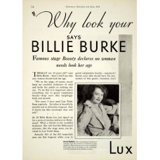 Billie Burke advertentie Lux, 1931