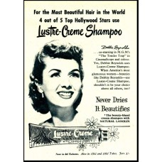 Debbie Reynolds advertentie Lustre Creme Shampoo - GB -1956