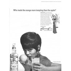 Eartha Kitt advertentie Smirnoff wodka - 1966