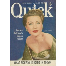 Anne Baxter cover Quick, 1951