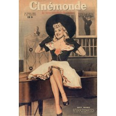 Betty Grable cover Cinémonde - 1946
