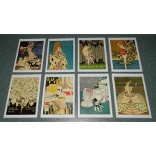8 Braziliaanse Art Deco kaarten - set A