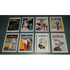 8 Chicagoan Art Deco covers kaarten - set B