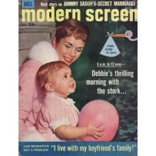 Debbie Reynolds en Carrie Fisher op cover Modern Screen, juni 1958