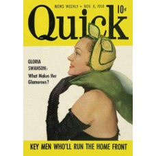 Gloria Swanson cover Quick, 1950