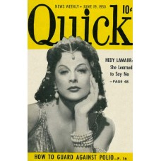 Hedy Lamarr cover Quick - 1950