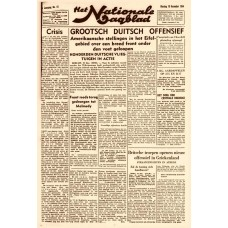 Het Nationale Dagblad - 19 december 1944 - Ardennen Off.