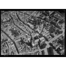 Arnhem - Eusebiuskerk e.o - luchtfoto - ca. 1930