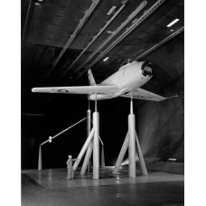 F-86 in windtunnel - fotoprint