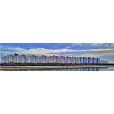 Flatgebouwen - fotoprint