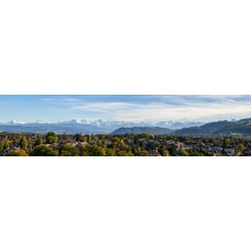 Alpen - panoramische fotoprint