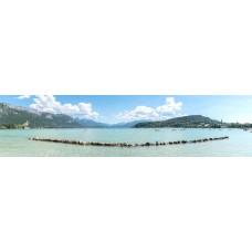 Annecy meer Frankrijk - panoramische fotoprint