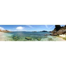 Baai - panoramische fotoprint