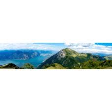 Berglandschap A - panoramische fotoprint
