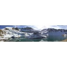 Berglandschap AD - panoramische fotoprint