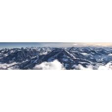 Berglandschap AG - panoramische fotoprint