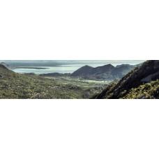 Berglandschap BN - panoramische fotoprint