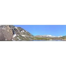 Berglandschap CB - panoramische fotoprint