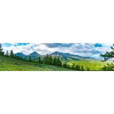 Berglandschap D - panoramische fotoprint