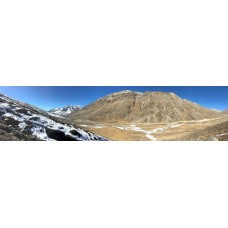 Berglandschap K - panoramische fotoprint