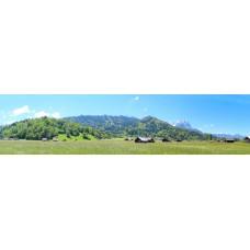 Berglandschap O - panoramische fotoprint