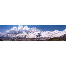 Berglandschap P - Nepal - panoramische fotoprint