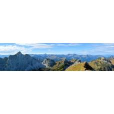 Berglandschap Q - panoramische fotoprint