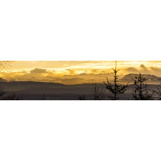 Berglandschap T - panoramische fotoprint