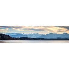 Berglandschap U - panoramische fotoprint