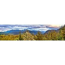 Berglandschap X - panoramische fotoprint