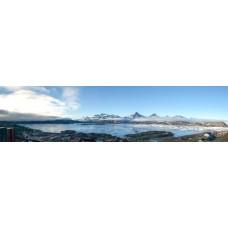 Berglandschap Z - panoramische fotoprint