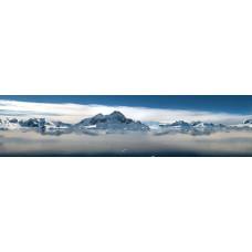 Bergmeer met ijs - panoramische fotoprint