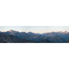 Bergtoppen - panoramische fotoprint