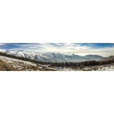 Besneeuwde bergen versie 2 - panoramische fotoprint