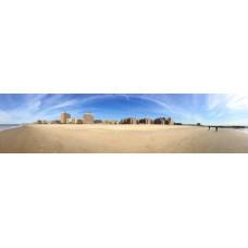 Brighton Beach - Engeland - panoramische fotoprint