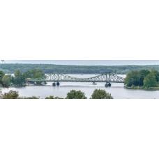 Brug over rivier - panoramische fotoprint 1