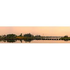 Brug Vietnam - panoramische fotoprint