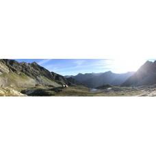 Calanca alpen pad 2 - panoramische fotoprint
