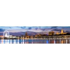 City skyline - panoramische fotoprint 1