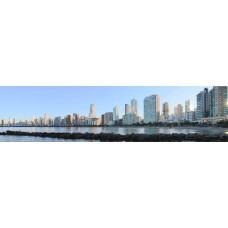 City skyline - panoramische fotoprint 4