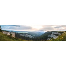 Creux du Van Zwitserland - panoramische fotoprint
