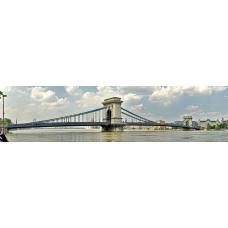 Donau Budapest Hongarije - panoramische fotoprint